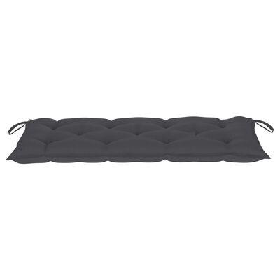 vidaXL Cojín para banco de jardín tela gris antracita 120x50x7 cm