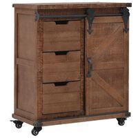 vidaXL Mueble de almacenaje madera maciza abeto marrón 64x33,5x75 cm