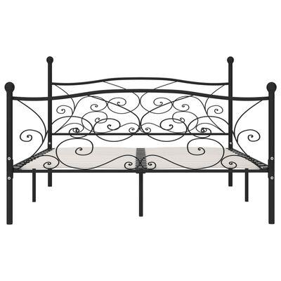vidaXL Estructura de cama con somier metal negro 180x200 cm