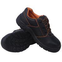 vidaXL Zapatos de seguridad Negros Talla 46 Cuero