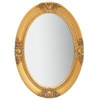 vidaXL Espejo de pared estilo barroco dorado 50x70 cm