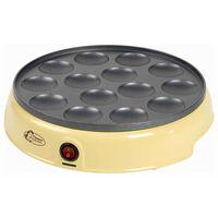 Bestron Máquina de crepes holandeses APFM700SD 800 W crema