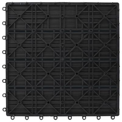 vidaXL Baldosas de WPC 30x30 cm 11 unidades 1 m² gris