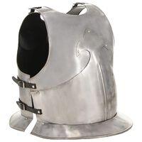 vidaXL Réplica de coraza de armadura medieval LARP acero plateado