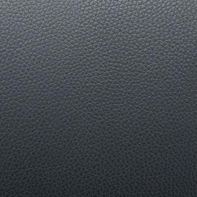 vidaXL Sillón para la TV de cuero sintético negro