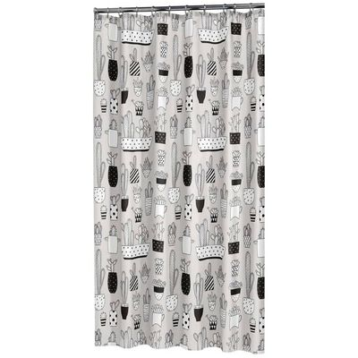 Sealskin Cortina de ducha Cactus gris 180x200 cm