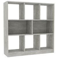 vidaXL Estantería librería aglomerado gris hormigón 97,5x29,5x100 cm