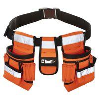 Toolpack Cinturón de herramientas alta visibilidad Sash naranja negro