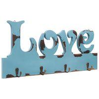 vidaXL Perchero de pared LOVE 50x23 cm