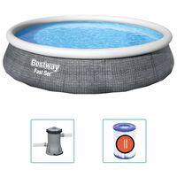 Bestway Juego de piscina inflable Fast Set con bomba 396x84 cm