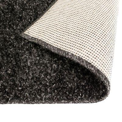 vidaXL Alfombra shaggy peluda 140x200 cm gris antracita