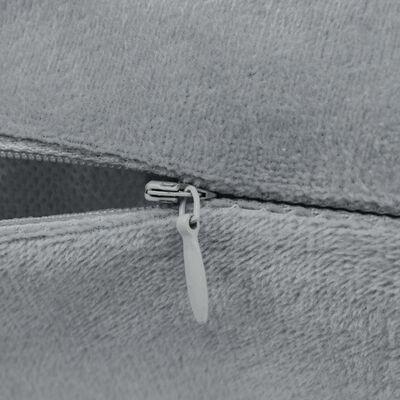 vidaXL Fundas de cojín de terciopelo 50x50 cm gris 4 unidades