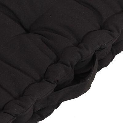 vidaXL Cojines para palets de suelo 6 unidades algodón negro