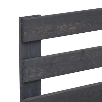 vidaXL Estructura de cama de palés madera maciza pino gris 180x200 cm