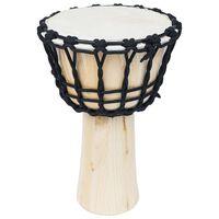 vidaXL Tambor djembe con tensores de cuerda piel de cabra 25 cm