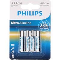 Paquete de 4 pilas ultra alcalinas AAA