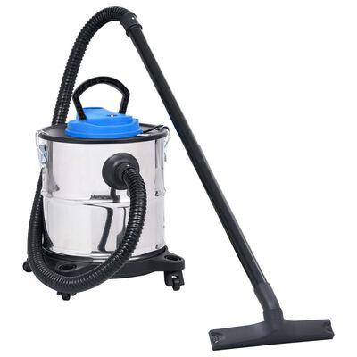 vidaXL Aspiradora de cenizas con tubo y cepillo de acero inoxidable