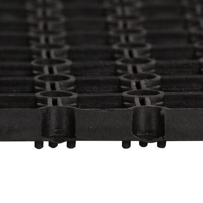vidaXL Felpudo de goma 16 mm 100x150 cm