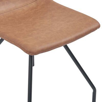vidaXL Juego de comedor 11 piezas cuero sintético marrón