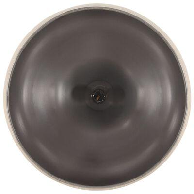 vidaXL Lámpara colgante industrial hierro gris y madera 45 cm E27