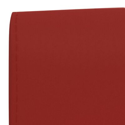 vidaXL Taburetes de cocina 2 unidades cuero sintético rojo vino tinto