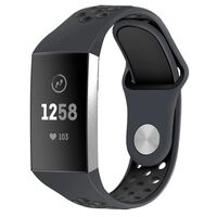 Pulsera Fitbit Charge 3/4 en silicona gris / negro - S