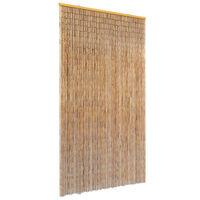 vidaXL Cortina de bambú para puerta contra insectos 100x220 cm