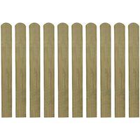 vidaXL Listones de valla de jardín 20 uds madera impregnada 80 cm
