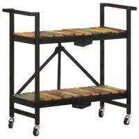 vidaXL Carrito de cocina de madera maciza reciclada 87x36x81 cm