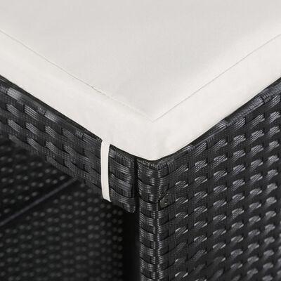vidaXL Conjunto de muebles de jardín 9 piezas ratán sintético negro