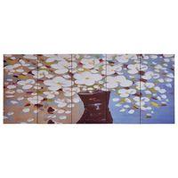 vidaXL Set de lona para pared flores en jarrón multicolor 200x80 cm