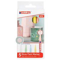 edding Rotulador de tinta brillante 5 unidades multicolor 751