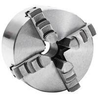 vidaXL Mandril de torno autocentrante de 4 mordazas 100 mm acero