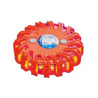 ProPlus Discos de advertencia con 16 LEDs naranja