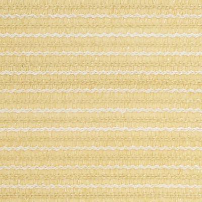 vidaXL Toldo para balcón HDPE beige 120x600 cm