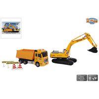 2-Play Camión volquete de 17 cm con excavadora de 22 cm