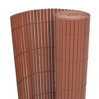 vidaXL Valla de jardín de doble cara marrón 170x300 cm