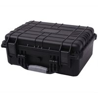 vidaXL Maletín protector de equipo negro 40,6x33x17,4 cm