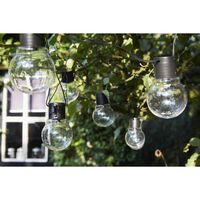 Luxform Luces de fiesta a pilas con 10 LEDs Menorca transparente