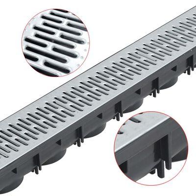 vidaXL Canales de drenaje 6 unidades acero galvanizado 6 m