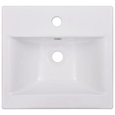 vidaXL Lavabo encastrado de cerámica blanco 42x39x18 cm