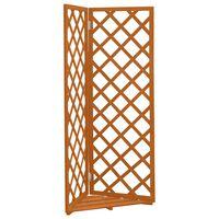 vidaXL Enrejado de esquina madera de abeto naranja 50x50x145 cm