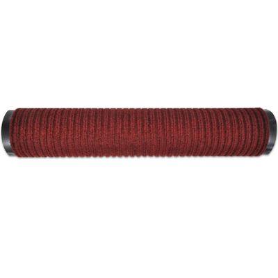Alfombra de entrada de PVC roja, 90 x 120 cm