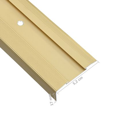 vidaXL Cantoneras de escalera forma de L 15 uds aluminio dorado 134 cm