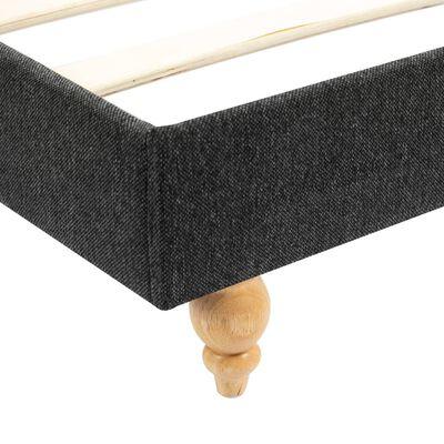 vidaXL Cama con colchón viscoelástico arpillera gris oscuro 160x200 cm