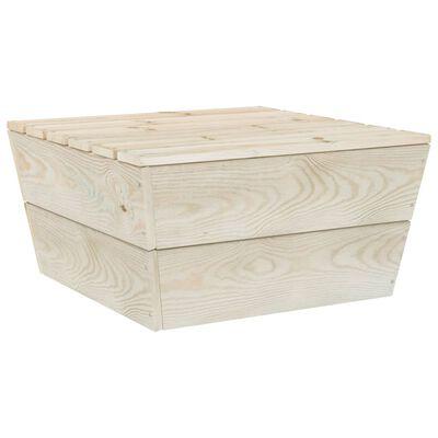 vidaXL Muebles de jardín de palets 7 piezas y cojines madera de abeto