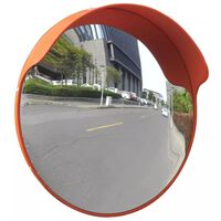 vidaXL Espejo de tráfico convexo plástico naranja 45 cm