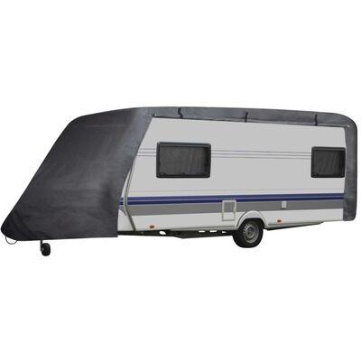 vidaXL Funda para caravana gris L