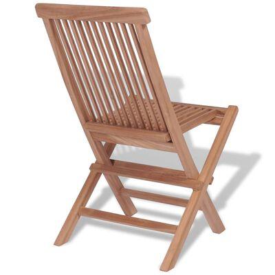vidaXL Sillas de jardín plegables 4 unidades madera maciza de teca