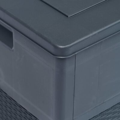 vidaXL Caja de almacenamiento de jardín 320 L gris antracita